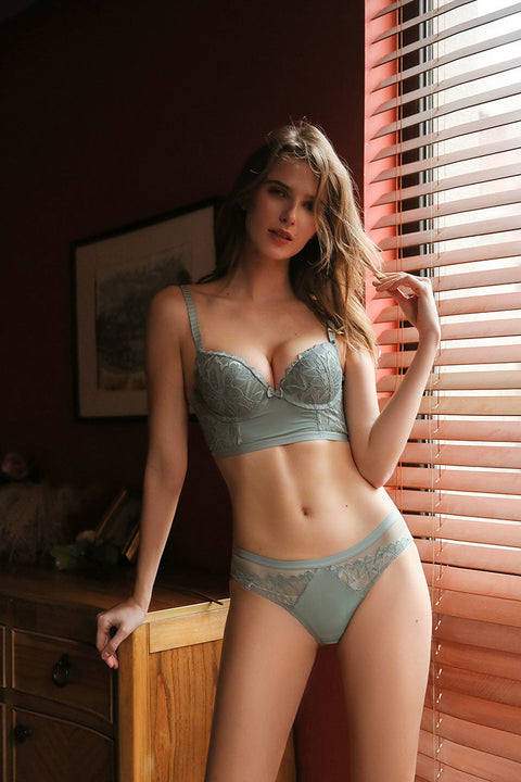 Wicked Floral Lace Push-up Lingerie Set gallery 5