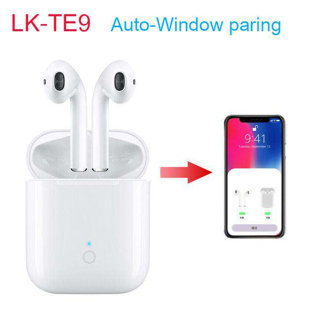 LK-TE9 TWS Bluetooth 5 0 Earbuds PK i12 i9s Wireless Earphones with  Charging Box Touch Control For iphone all phones