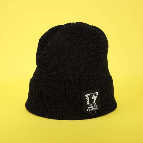 Harajuku Style Winter Thick knitted Woolen Hat for Men and Women gallery 6