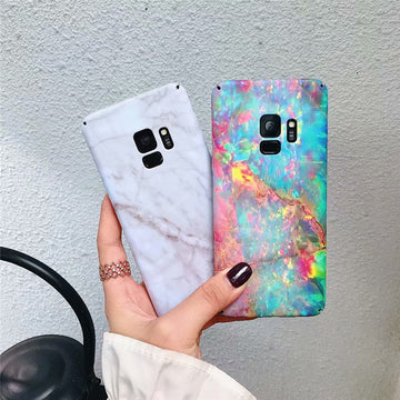 Dazzle Marble Printed Phone Case For Samsung