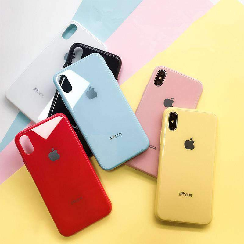 Contracted Pure Candy Color Phone Case for Apple iPhone