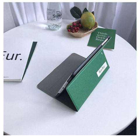 Solid Color with Letter Printed Apple iPad Cover Case gallery 2