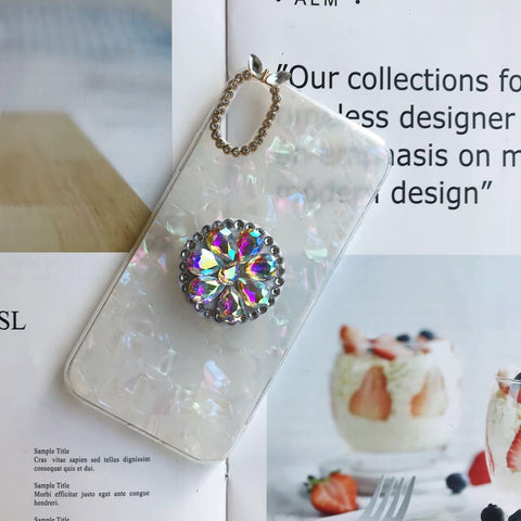 Candy Color Sparkling iPhone Case with Phone Holder