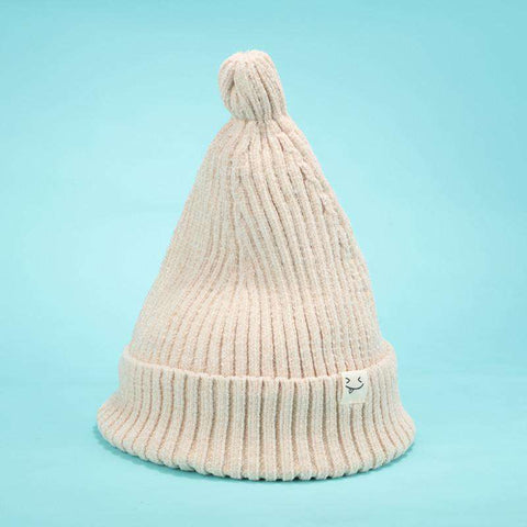 Smile Face Stitch Knit Beanie Hat gallery 3