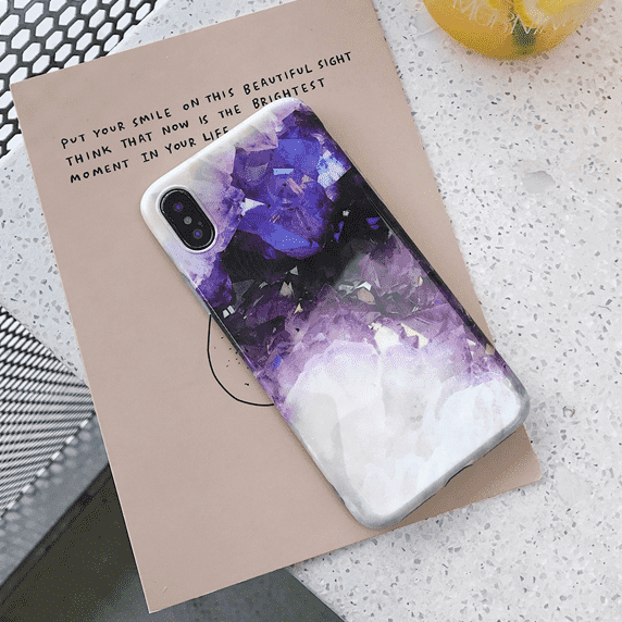 Purple Crystal Effect iPhone Case