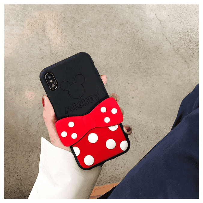 Minnie Mouse Bowknot Holder iPhone Case