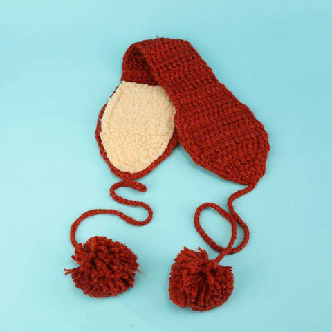 Women's Winter Cute Knitted Thick Ear Hat gallery 6