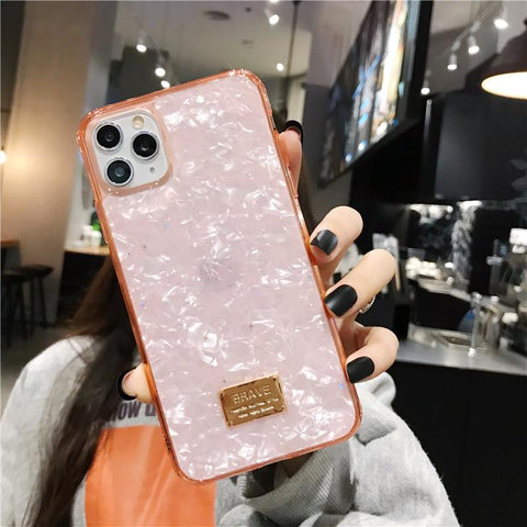 Four Colors Marble Shining Phone Case for Samsung gallery 5