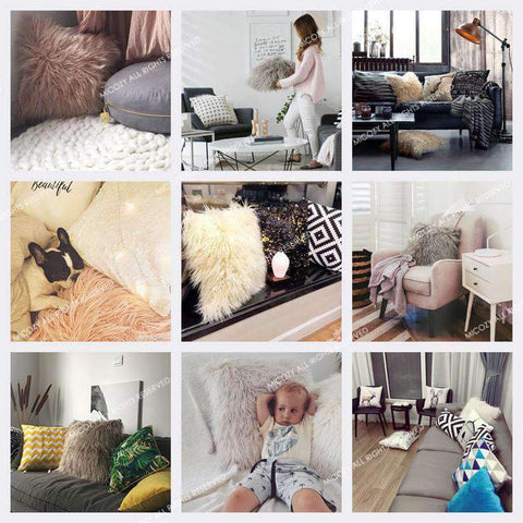 Fluffy Plush Pillow Cover gallery 5