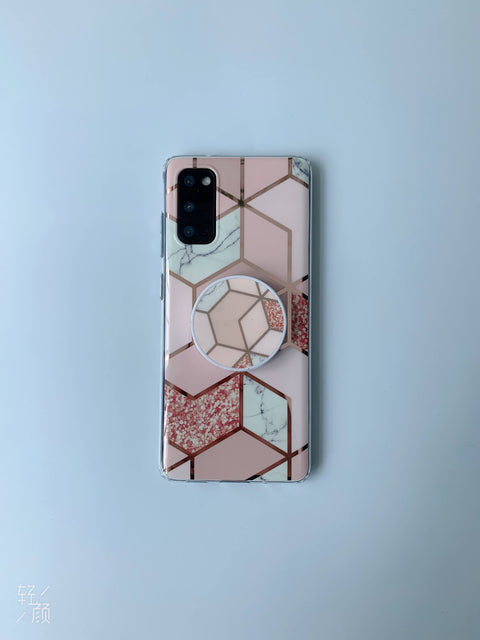 Electroplate Rhombus Marble Phone Case for Samsung gallery 11