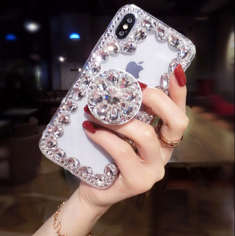 Ring Rhinestone Phone Case for Samsung with Phone Holder gallery 2