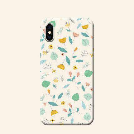 Fresh Style Floral Print Phone Case For All iPhone