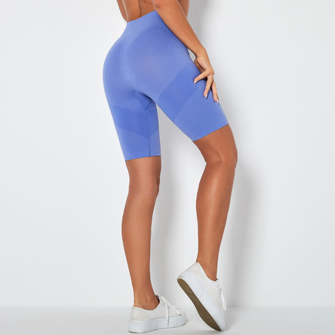 Contrast Panel Butt Lifting Sports Shorts gallery 6