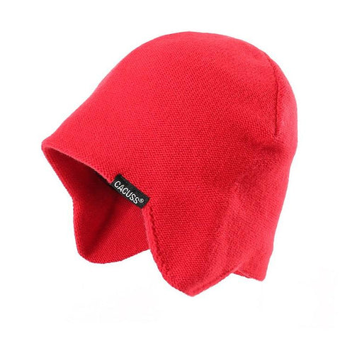 3 Colors Solid Wool Knit Earflap Beanie gallery 4