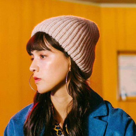 Candy Color Hand-knitted Simple and Thickened Hat gallery 1