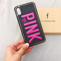 Luxury Embroidery Letter Printed iPhone Case