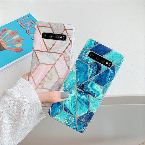 Geometry Marble Patch Phone Case for Samsung gallery 1