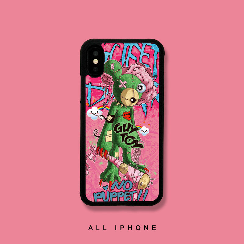 Pink KAWS Sesame Street Pattern iPhone Case