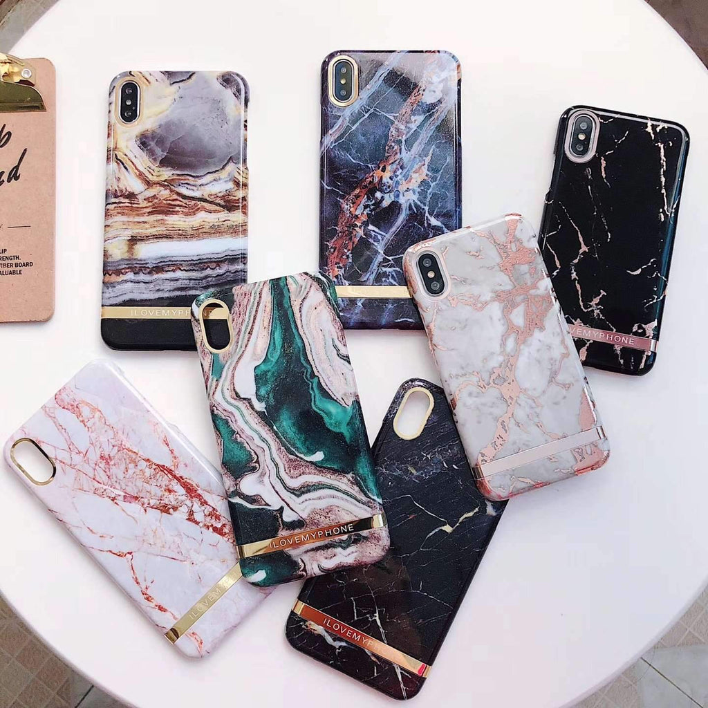 Colorful Marble Pattern Hard Phone Case For iPhone