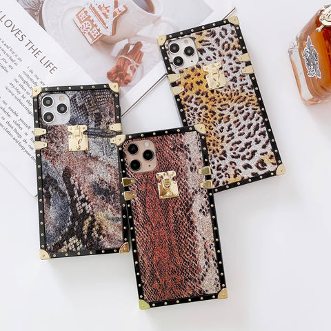 Ornate Animal Skin iPhone Case with Hand Strap