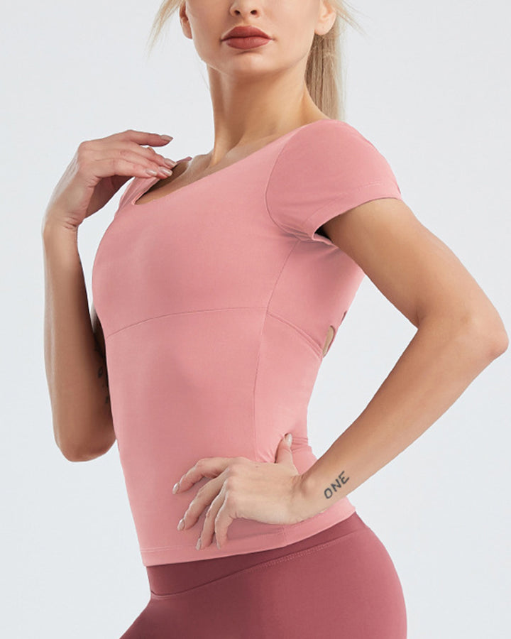 Cut Out Criss Cross Back Sports Top gallery 8