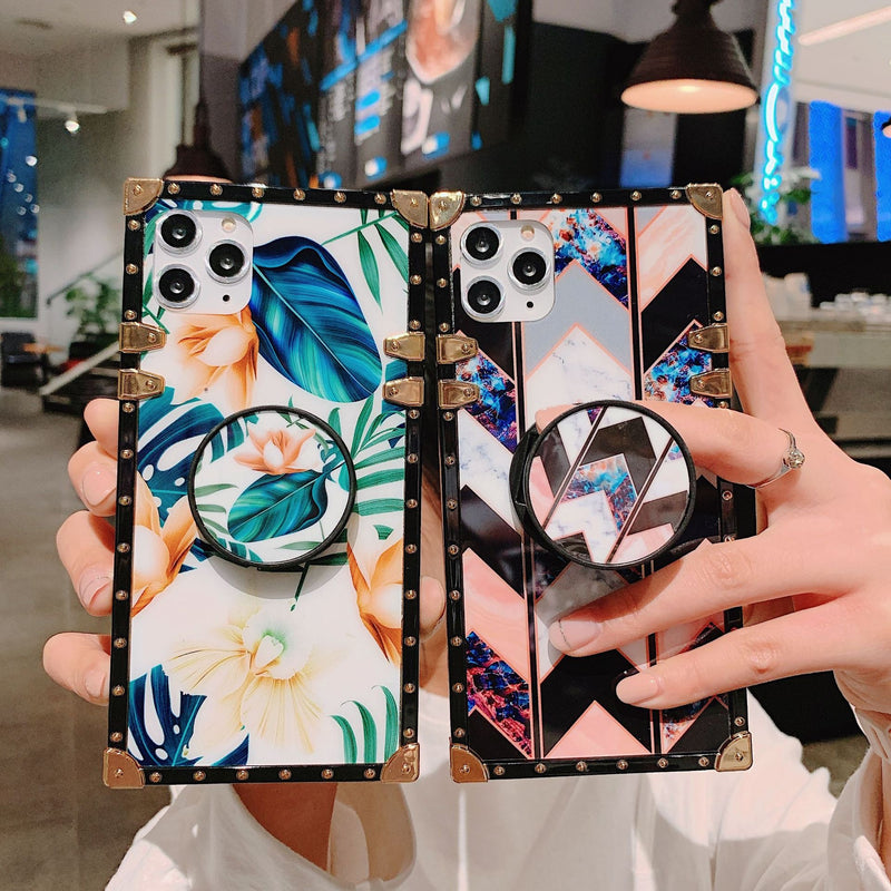 Fashion Stylish Different Pattern iPhone Case With Phone Holder