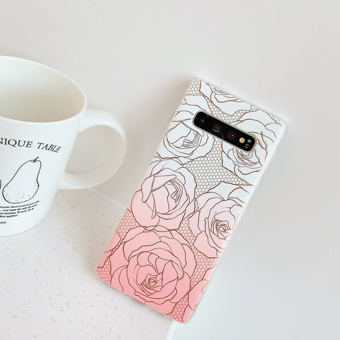 Floral Pattern Marble Phone Case for Samsung gallery 5