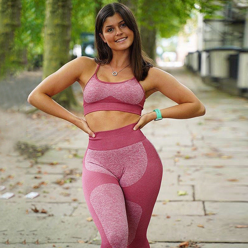 New Colors Arrival Sexy Squat-proof Seamless Enhance Compression Fit Yoga Set