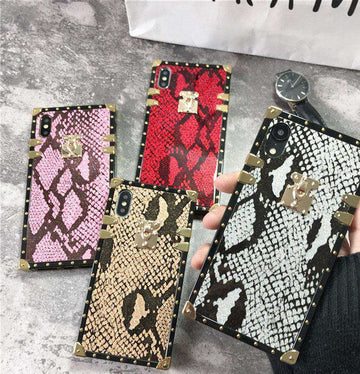 Luxury Snake Texture Square iPhone Case