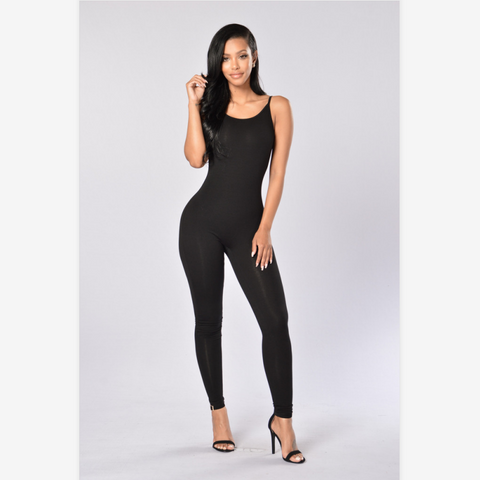 Spaghetti Strap Low Back Jumpsuit