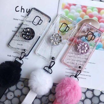 Diamond-shaped Phone Case with Phone Stand for iPhone