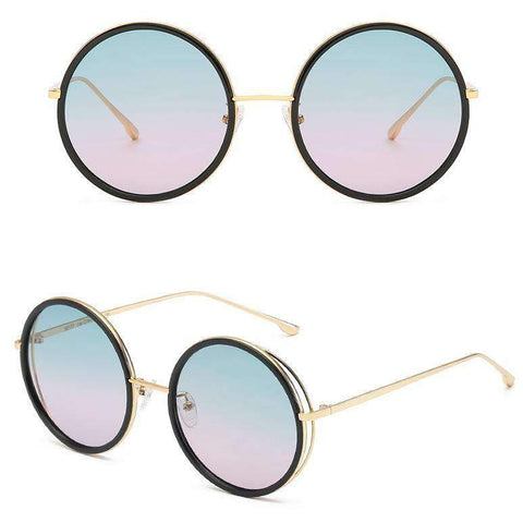 Circle Shape Lens with Wire Side Sunglasses gallery 5
