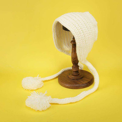 Hand-made Cute Warm Knitted Woolen Ear Hat with Long Braid gallery 6