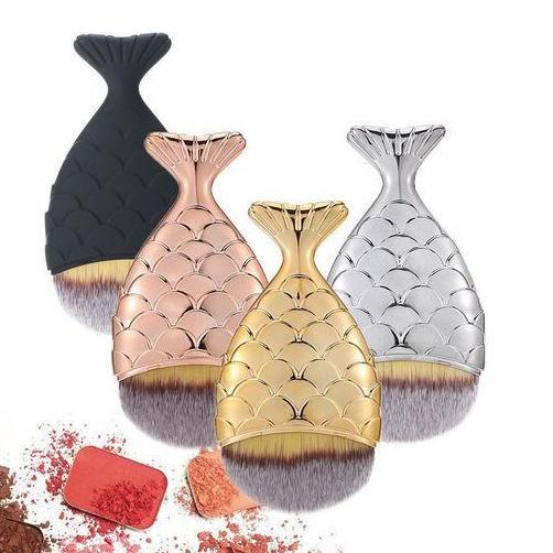 Mermaid Tail Fish Scale Foundation Make-up Brush 2 Pcs