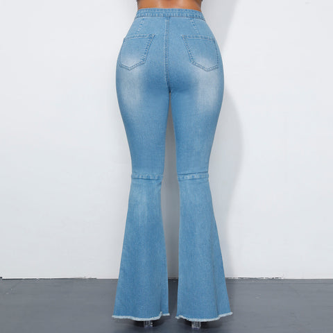 Back To The 60's Butt Lifting Bell Bottom Jeans