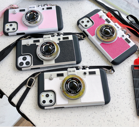 Stereo Camera Theme iPhone Case With Belt Phone Holder