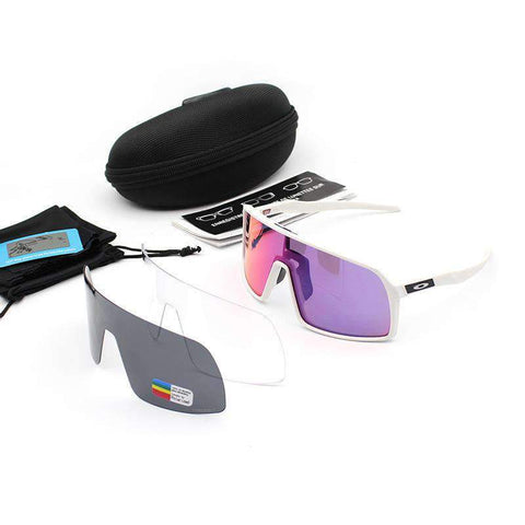 3 Pieces Set Polarized Lens Goggles For Cycling gallery 9
