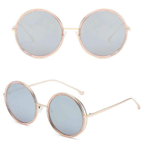 Circle Shape Lens with Wire Side Sunglasses gallery 3