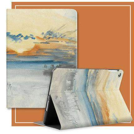 Freedom Style Silicon Sunset & Sea Print iPad Cover Case gallery 2