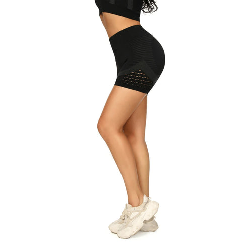 Contrast Hollow Out Seamless Sports Shorts gallery 8