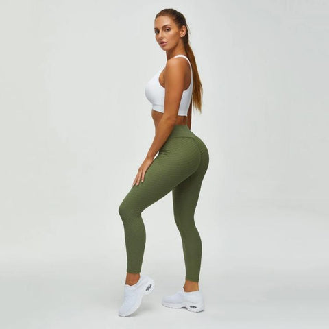 High Waist Butt Lifting Seamless Textured Leggings gallery 7