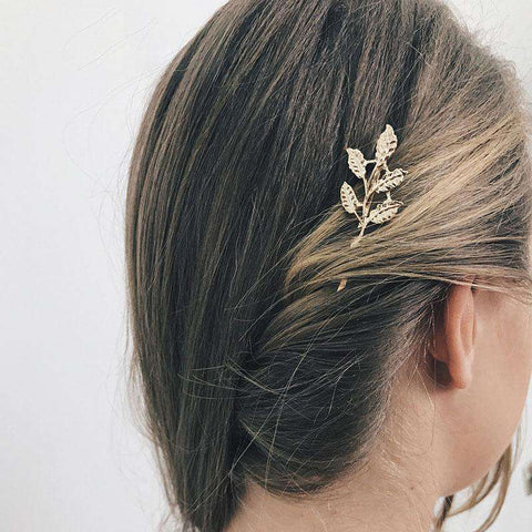 Gold Simple Flower Hair Pin gallery 5