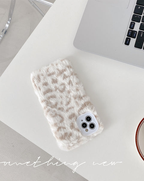 Fluffy Leopard Flannel iPhone Case