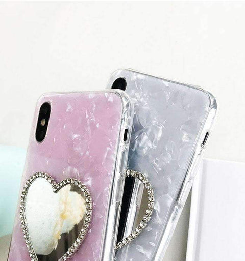 Classic Shell Pattern Samsung Case with Heart Designed Mirror gallery 5