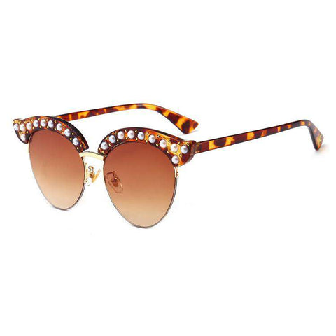 Vintage Wafer Lens With Pearl Side & Bee Detail Frame Sunglasses gallery 3