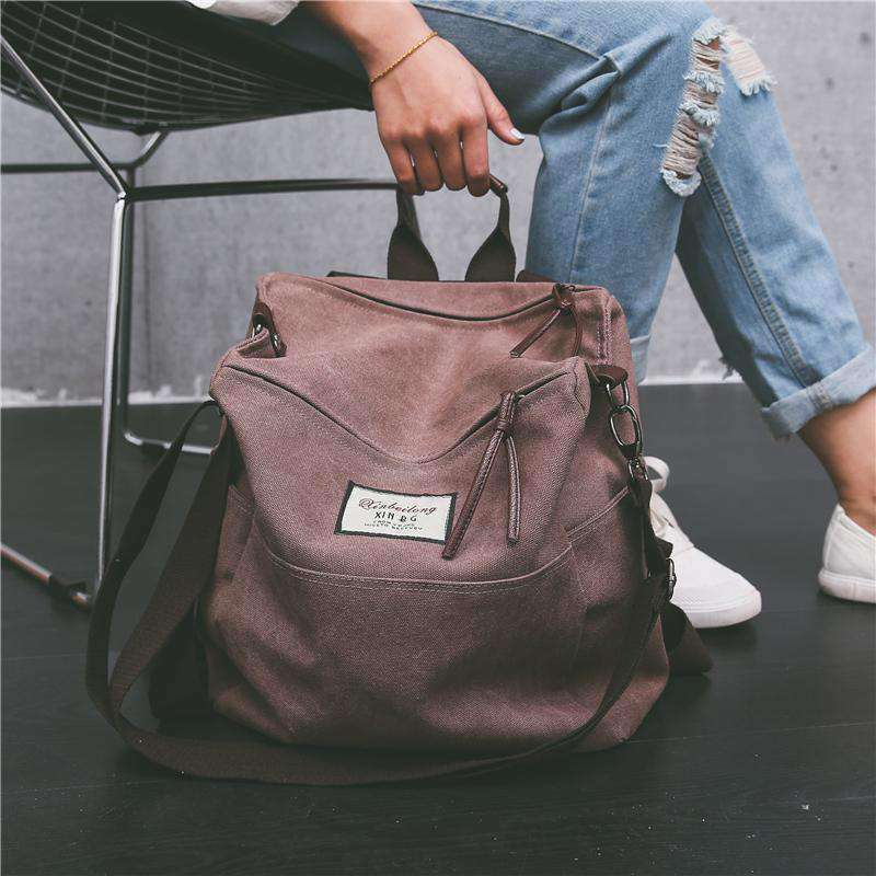 Chic Canvas Tote Backpack