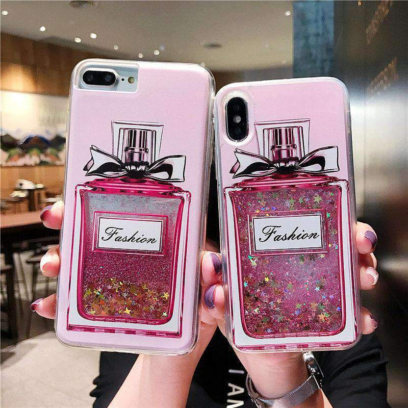 Creative Exquisite Perfume Bottle Designed Liquid Bling GlitterSamsung Case