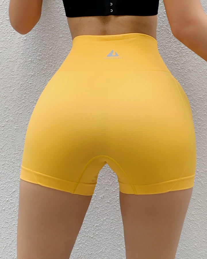 Letter Print Wide Waistband Stitch Trim Sports Shorts gallery 12