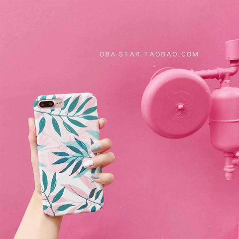 Pink Summer Vibe Leaf iPhone Case gallery 7