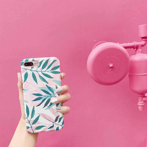 Pink Summer Vibe Leaf iPhone Case gallery 1